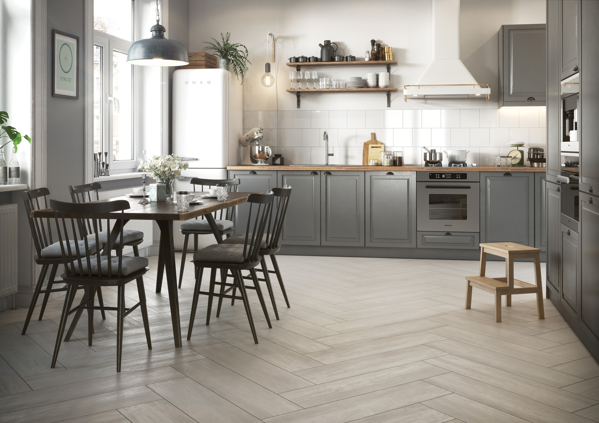 "The ""Wood Concept"" series transfers the cozy, homely character of the natural material to the otherwise rather cool appearing tile."