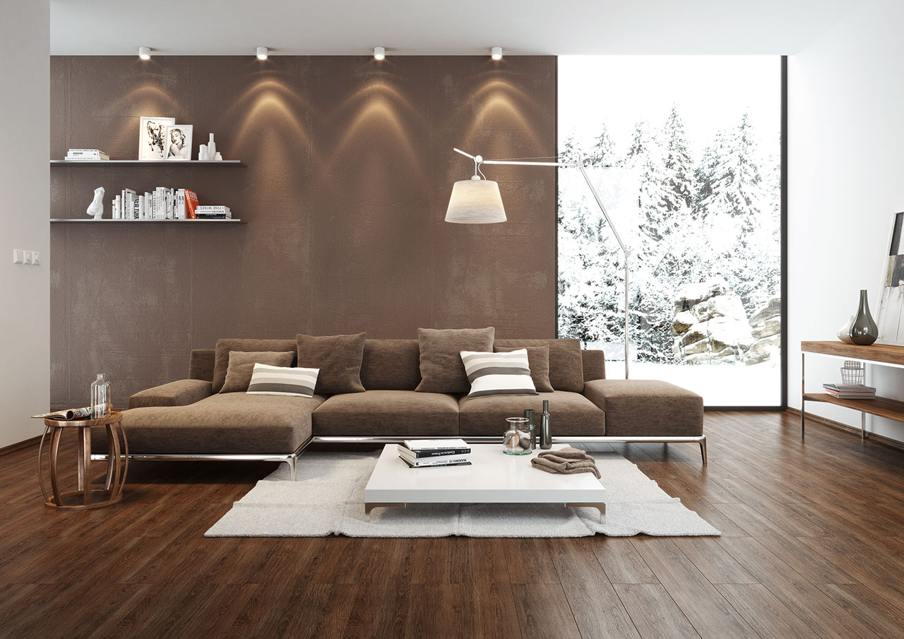 Wohnzimmer braun streichen ideen