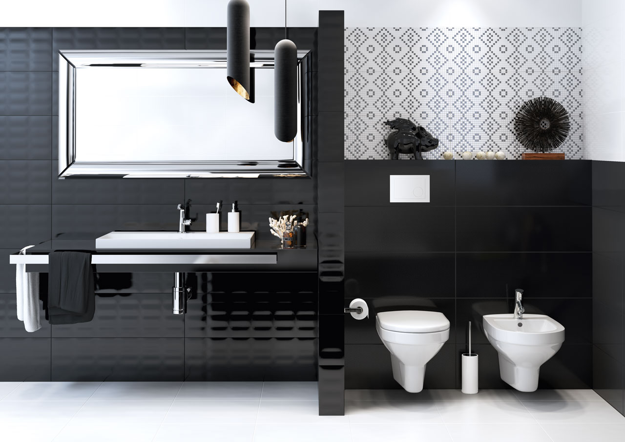 Badezimmer Schwarz Weiß Modern U2013 Midir
